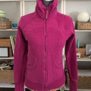 Lululemon Zip Up Sweatshirt/Jacket Size 6 Berry